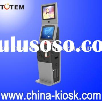 Internet kiosk with dual TFT LCD touch screen free standing kiosk