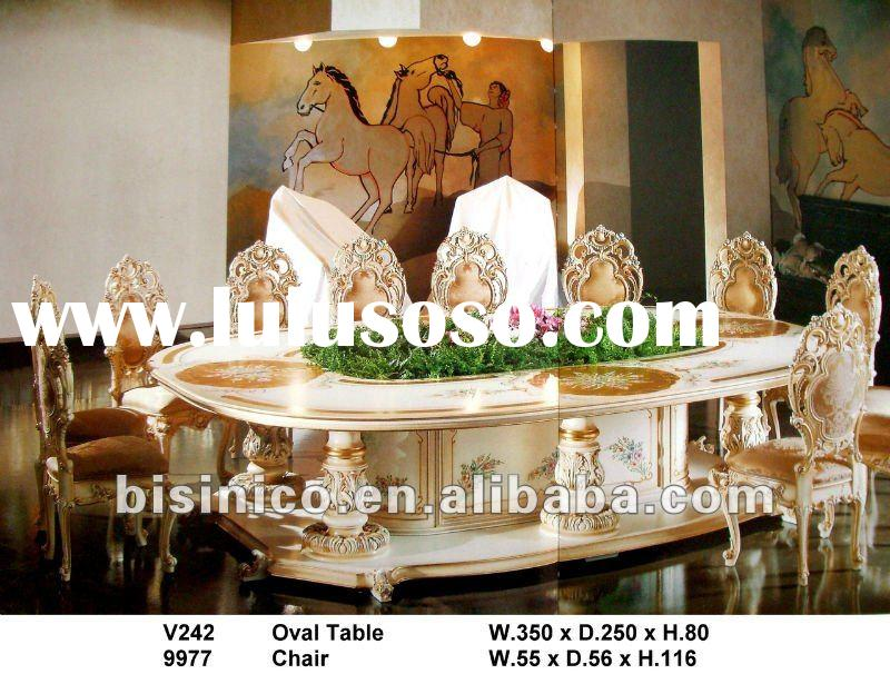 Luxury handcarved wooden octagonal table and chair/antique furniture /wooden noble furniture