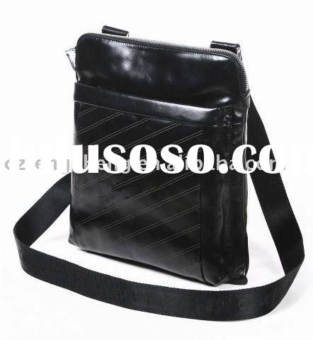 MOQ1-Genuine Cowhide Leather Laptop Messenger Bag For Men No.201017-2
