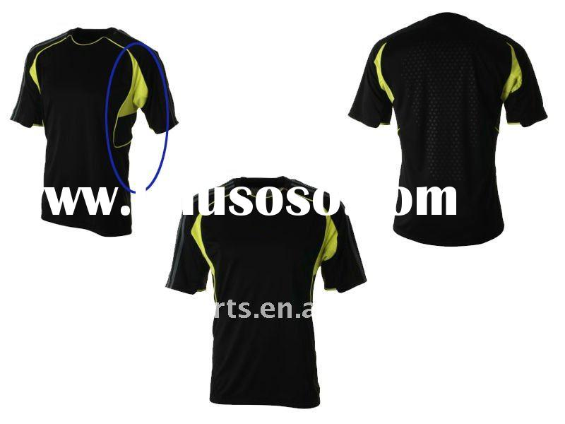 New 2012 men's/boy's dry-fit Sports T shirt/polo/jersey/top in contrast color mesh i