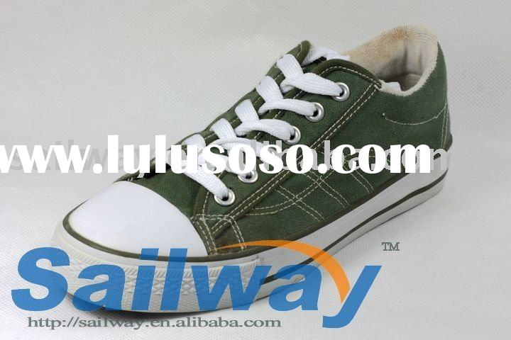 New Low Top Canvas Sneakers Men Shoes All Sizes Green