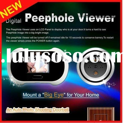New digital Door Peephole Camera with Photo-snapping and doorbell functions