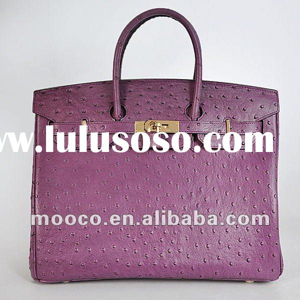 Newest Ostrich leather handbags bags new fashion 2012