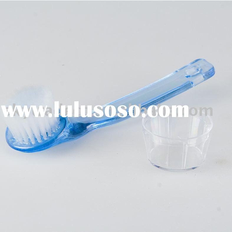 Plastic facial brush with handle exfoliating face dead skin