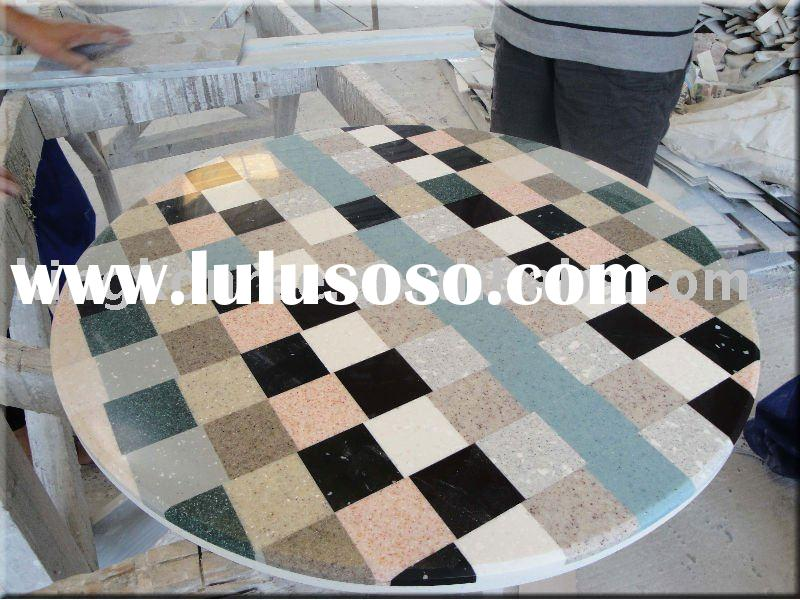 Shining artificial granite stone table top