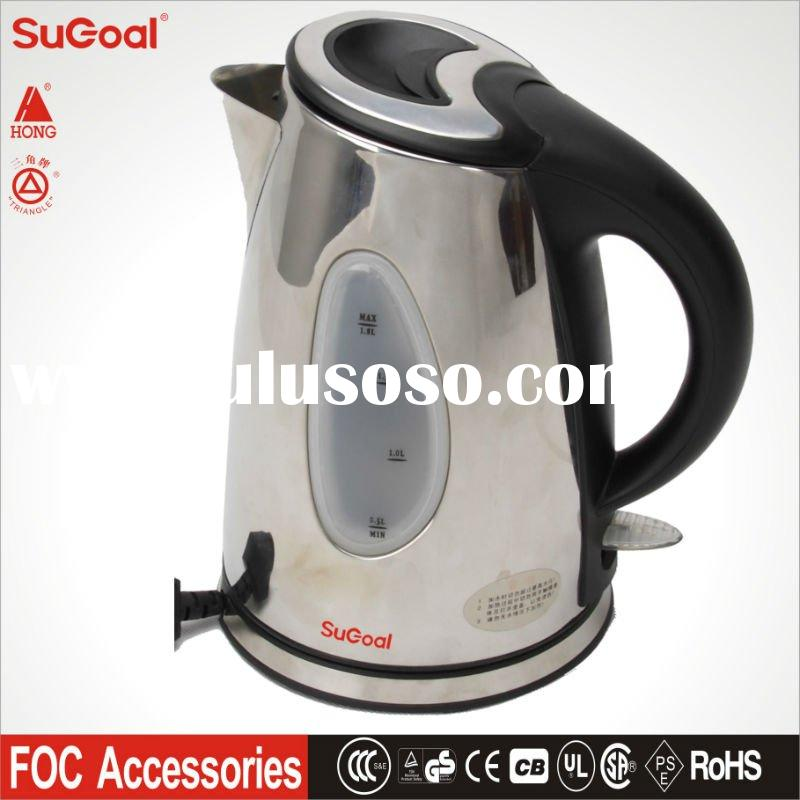 Stainless Steel Cordless Electric Kettle in 1.8L, 1.5L, 2.0