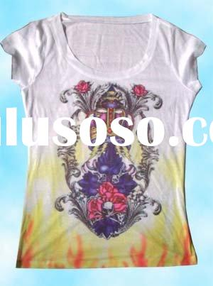 Sublimation transfer photo ladies' T shirt