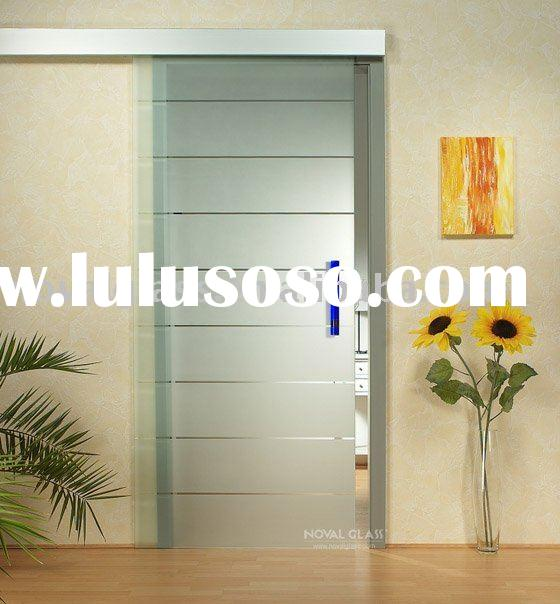 Tempered frosted glass door