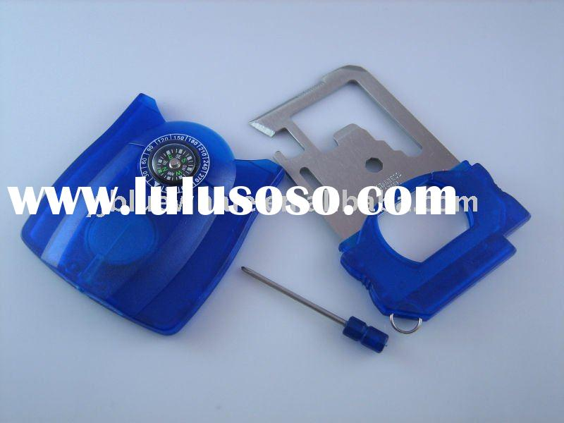 Ultimate Survival Card Tool with Compass and Plastic Cover