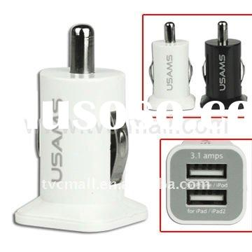 Universal Dual Port USB Car Charger Adapter for iPad/iPhone/iPod and etc