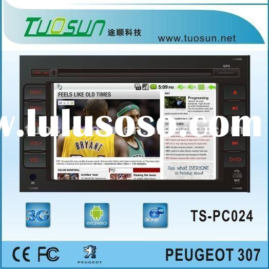 car pc dvd player for Peugeot 307 Multimedia Player GPS Digital TV WIFI 3G
