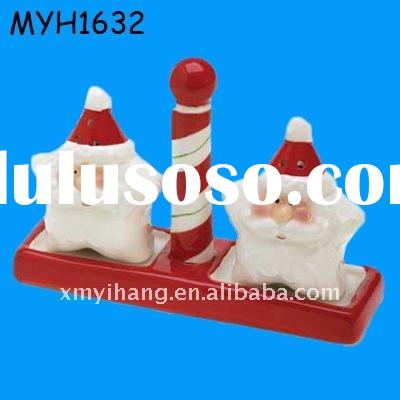 ceramic candy cane salt pepper shaker