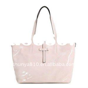 fashionable clear PVC tote bag