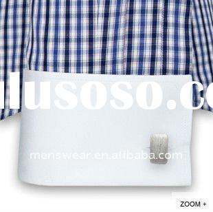 high collar dress shirt with french cuff