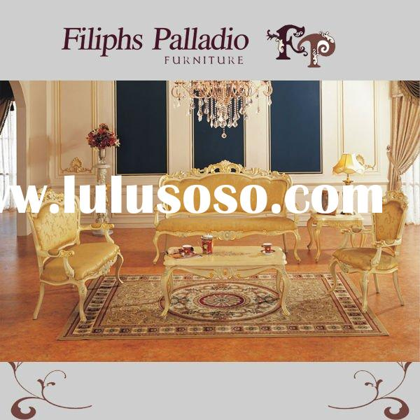 italian classic furniture - hand carved solid wood living room furniture