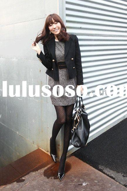 ladies fashion long sleeve overcoat