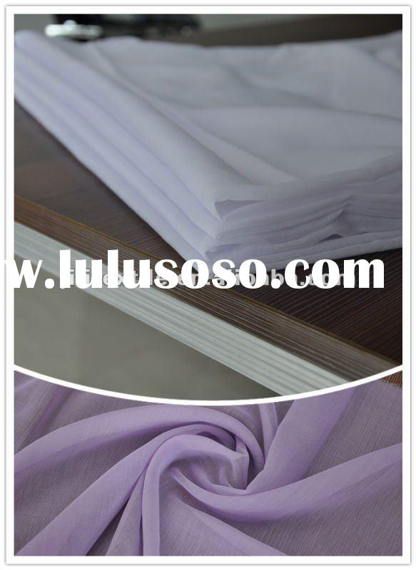 """spun polyester dyed voile fabric 50*50 60*60 44""""for scarf"""