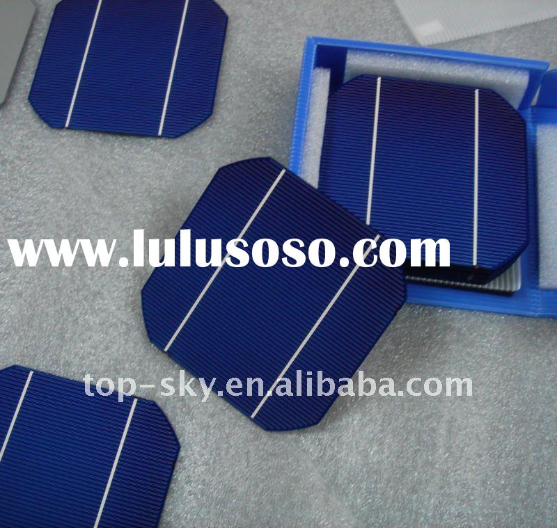 2012 best quality and high efficiency A grade 2 busbar Motech 125mm*125mm solar cell, low price