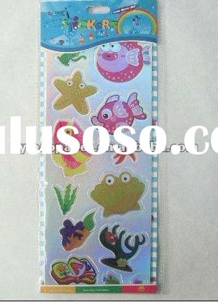 2012 new fashion 3D fish wall stickers for kids room decor
