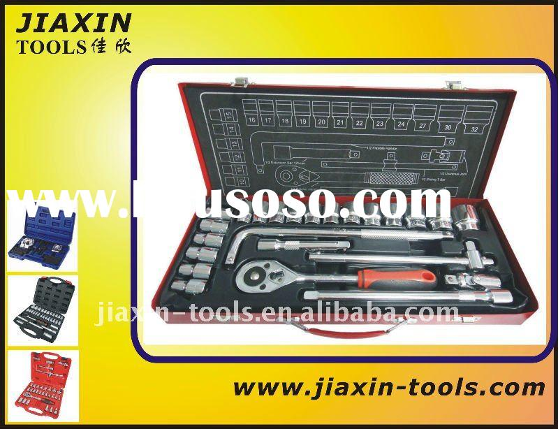 24 pcs Socket and Wrench Set in Iron Box