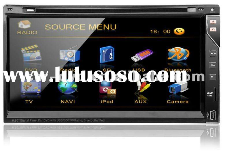 2 din 7 inch touch screen car multimedia dvd player with gps car tracker system