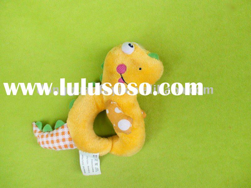 "5""Hand ring stuffed dinosaur king plush toys"
