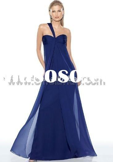9318 dark blue evening dress wedding dress, evening dress,evening gown,formal evening dress,Bridal D
