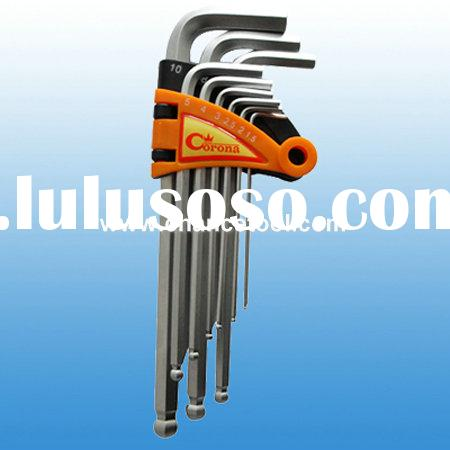 9pc ball point hex key wrench CH-WS072