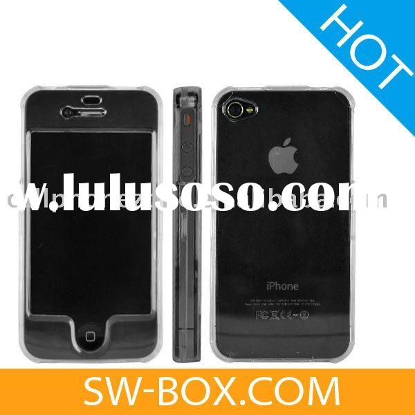 Clear White Crystal Case for iPhone 4 (Front & Back) /For iPhone 4 Case