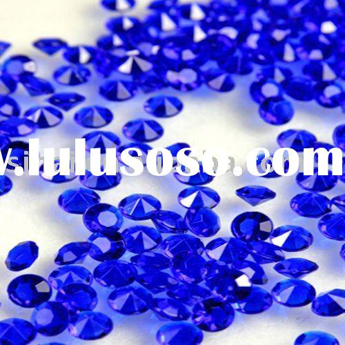 Dark Blue Diamond Confetti Wedding Table Scatter