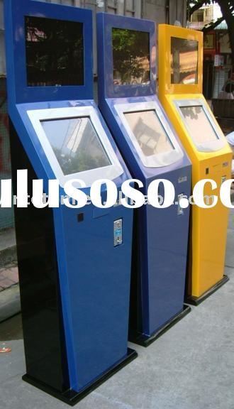 Dual Touch Coin Operated Self Service Information Terminal Kiosk