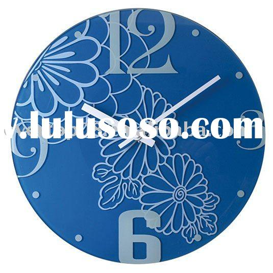 ETG8812A 2011 newly chinese design art wall clock with frameless painting