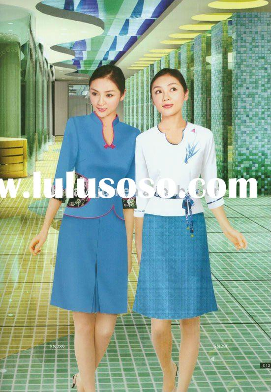 Elegant and gorgeous uniform for hotel receptionist