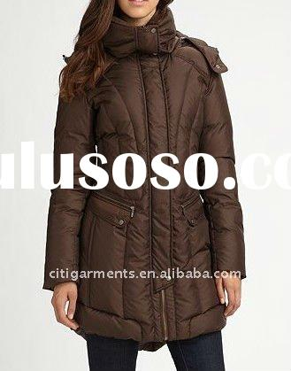 Fitted Quilted Down Coat, women COAT fashion, women winter COAT