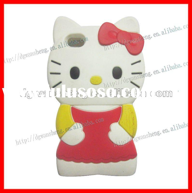 Hello Kitty silicone case for iphone 4g