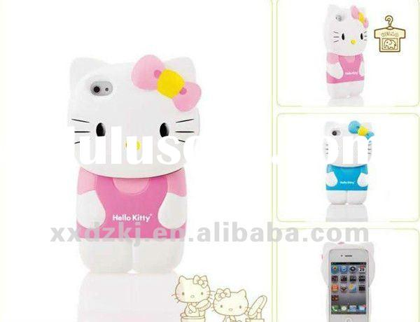 Loving hello kitty silicone case for iphone 4 & 4s(I4S-022)