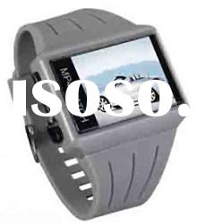 Mp4 Watch, 4G, 1.8 Inch Screen, Plastic Case&Pu Band, Stainless Steel Back&Buckle