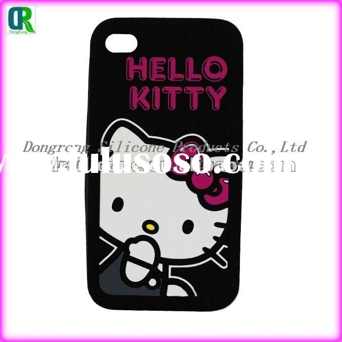 Newest hello kitty silicone case for 4g/4s