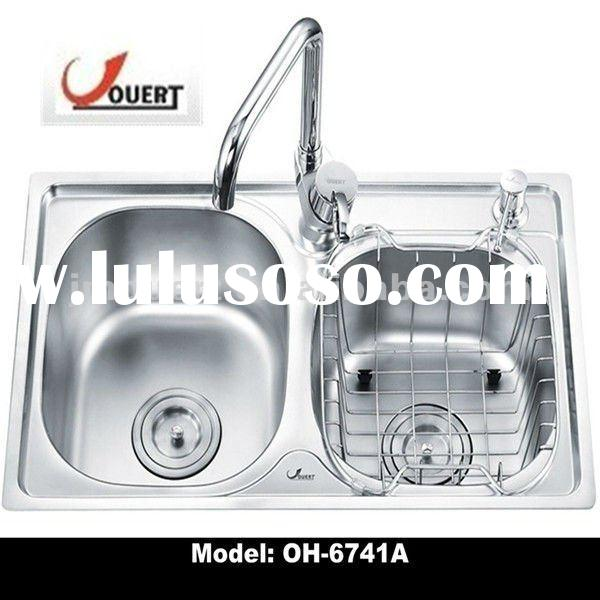 OH-6741A Stainless Steel Double Bowl Kitchen Sink