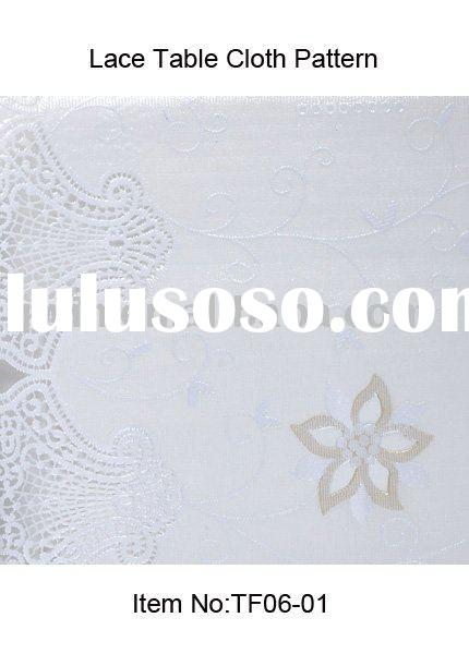 Pattern TF06-01 White PVC Lace Table Cloth