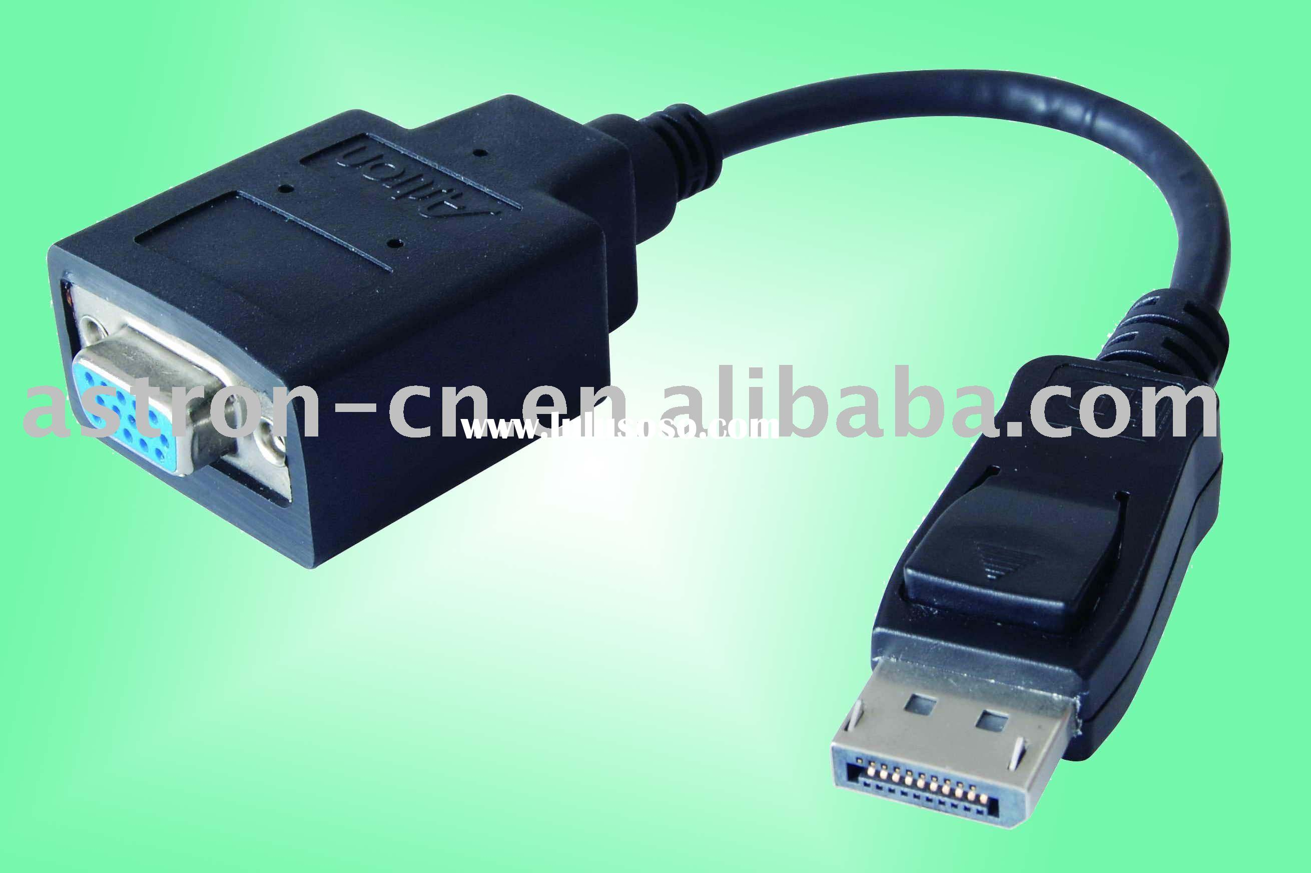 Popular computer cable Display port to VGA Cable Male to Female