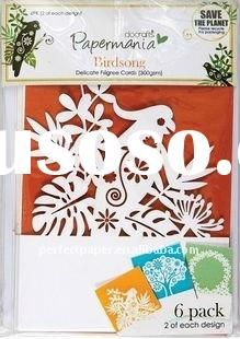 Precise laser cut paper for scrapbooking use