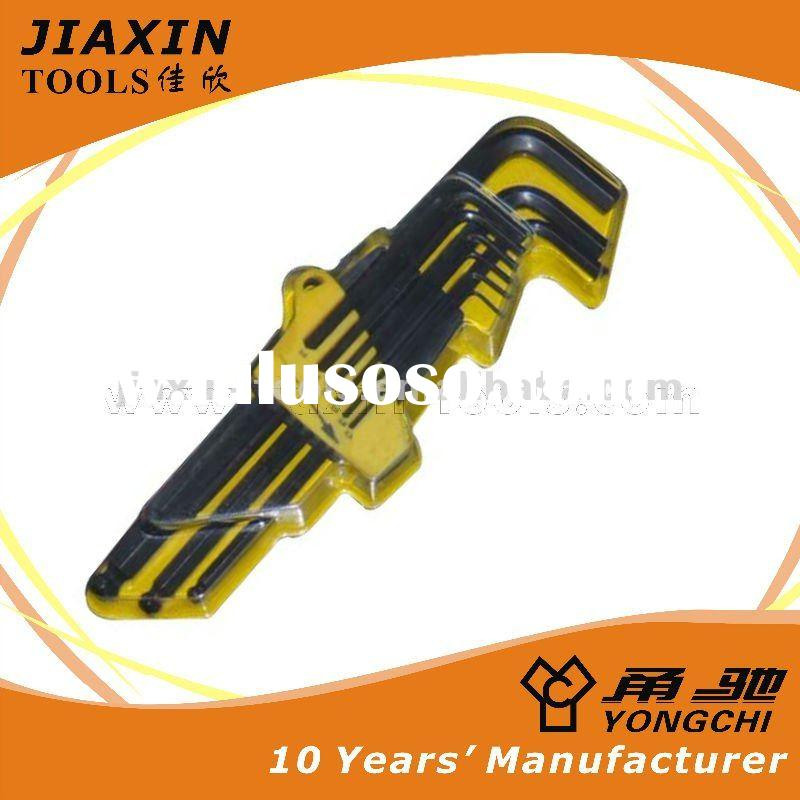 Quality Hex Key Wrench - electrophoresis Extra-long type 9pcs ball point hex key wrench
