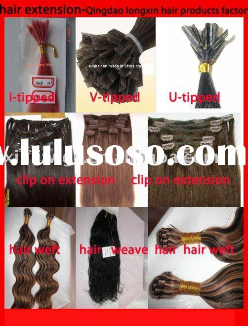 V-tip remy hair extension