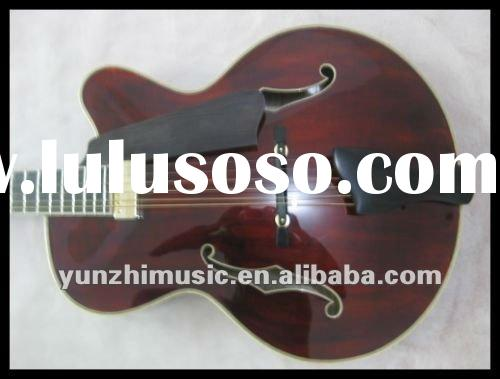 Wholesale Fully handmade Jazz guitar with solid wood have stock, 2012 hot sale and beautiful guitar