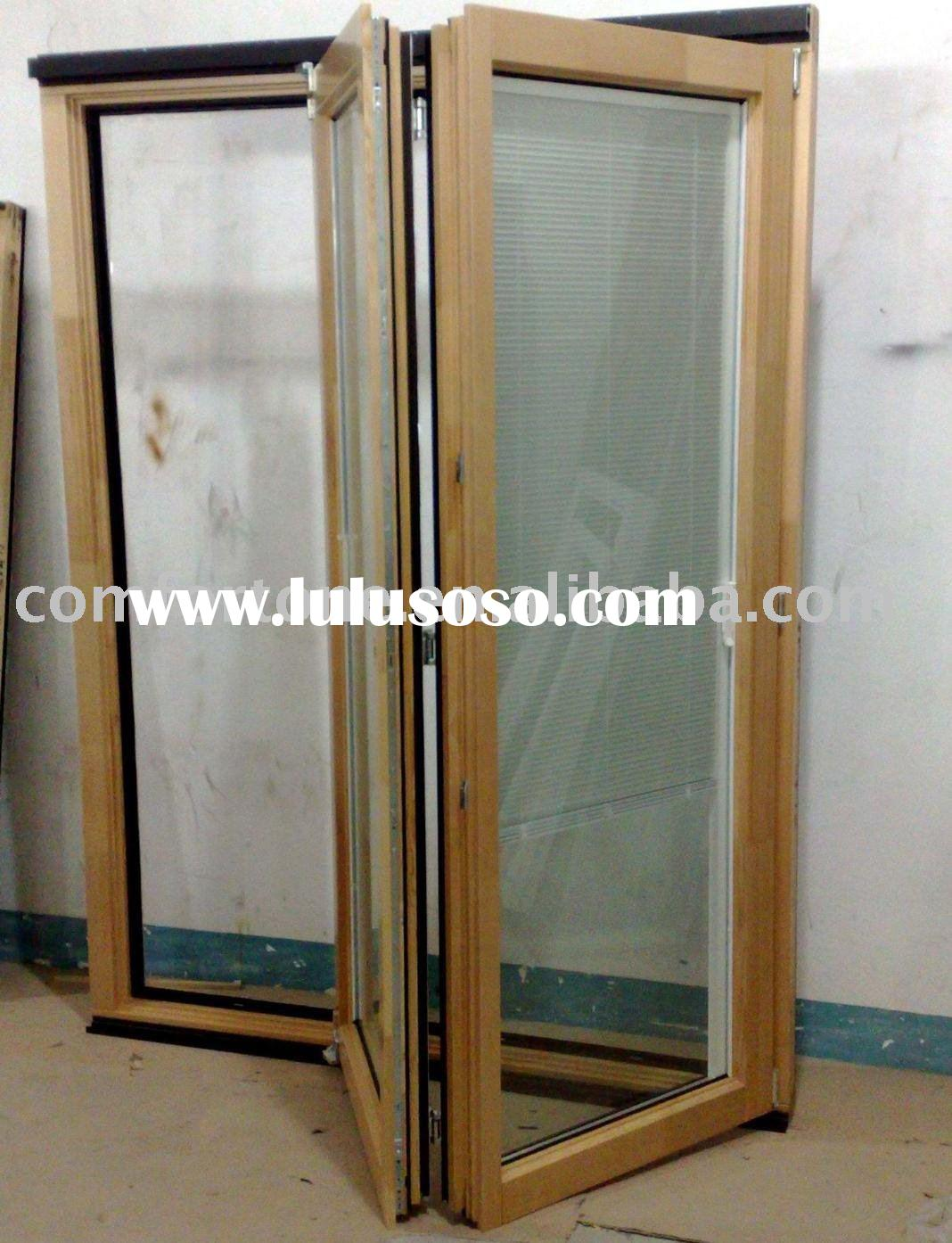 Soundproof wood folding doors accordion