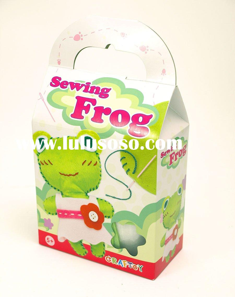 craft toy, craft doll, kids doll, sewing patterns / Sewing animal - Frog