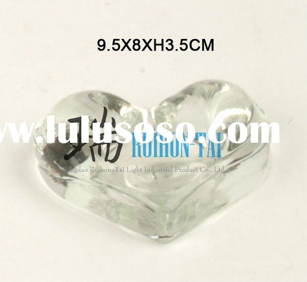 heart shaped candlestick holder with love