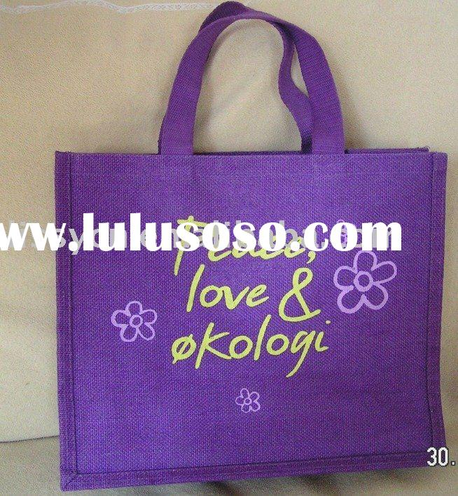 high quality purple jute bag