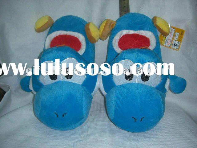 hot sale super mario bros yoshi plush slipper